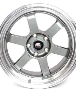 Time Attack Time Attack 16X8 5X114.3 Gun Metal Polished Lip