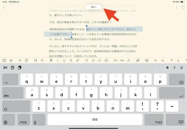 iPad・ジェスチャ コピー