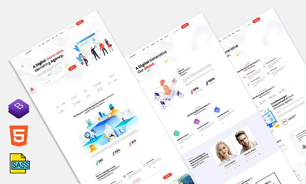 Its versatility makes it ideal for digital marketing agencies of various sizes and natures. Digimark Digital Marketing And Seo Agency Website Template