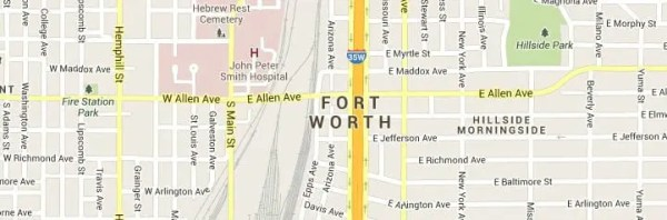 Fort Worth TX Map