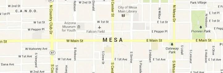 Mesa AZ Map