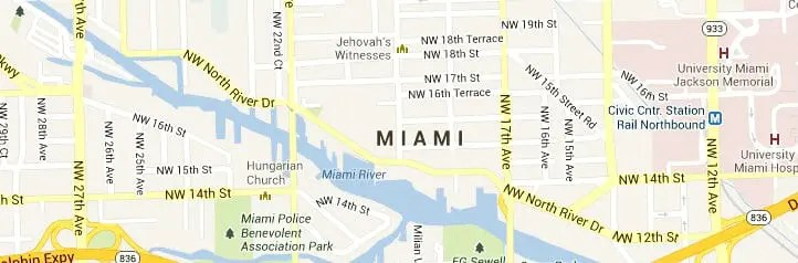 Miami FL Map