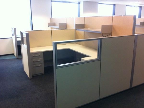 Used Haworth Compose 6x6 workstations