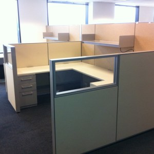 Used Haworth Compose 6x6 workstations