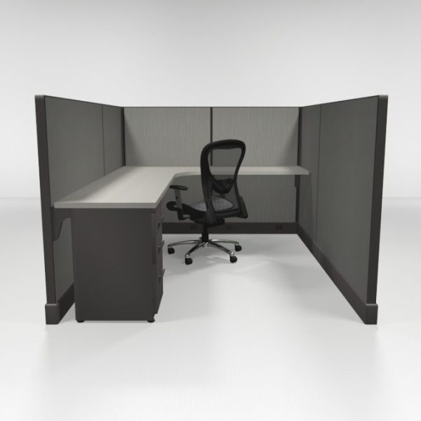 """53"""" High Cubicles 6x8, One File"""