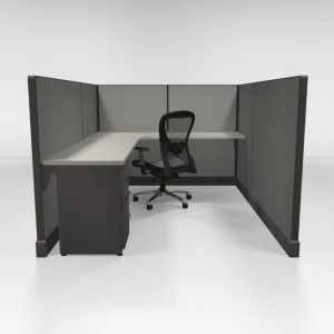 "53"" High Cubicles 6x8, One File"