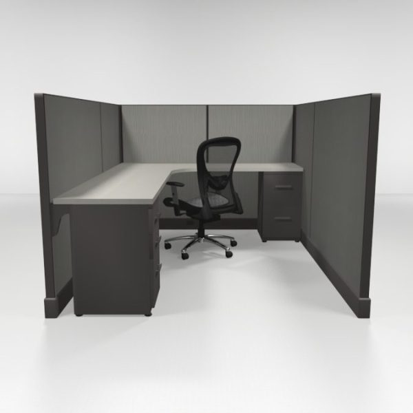 "53"" High Cubicles 6x8, Two Files"