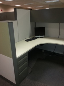 Steelcase Answer 6X8 with Drop Down1