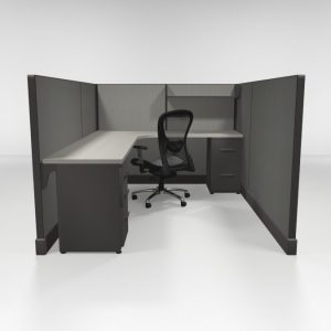 "QuickCubicles 53"" Tall, Two Files, Shelf"