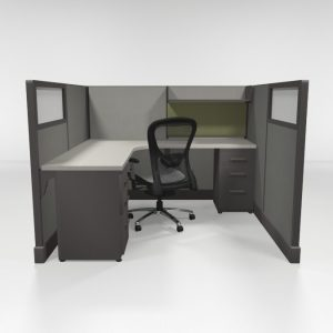 6X6 53″ High Cubicles Loaded