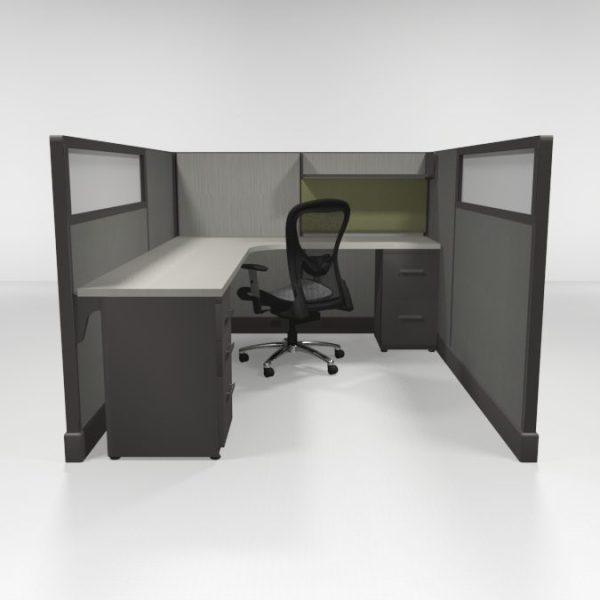 """QuickCubicles 53"""" Tall, Loaded"""