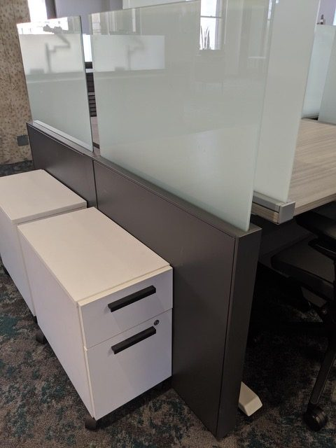 height adjustable steelcase benching cubicles 4