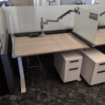 height adjustable steelcase benching cubicles
