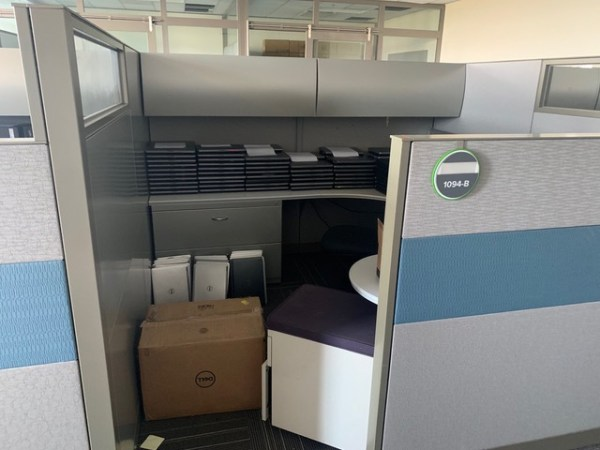 steelcase answer cubicles 8x8 loaded 4