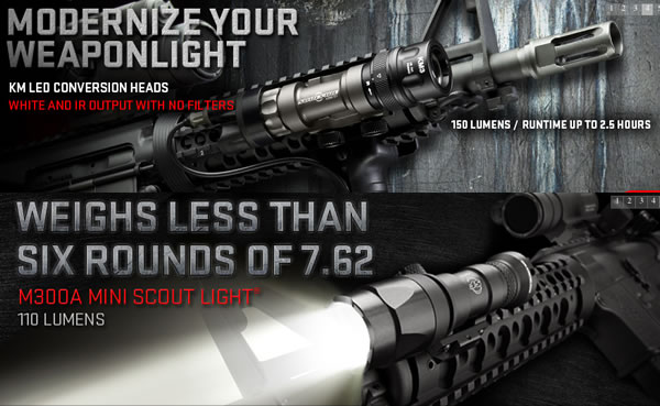 We Carry Surefire Lights & Tactical Gear