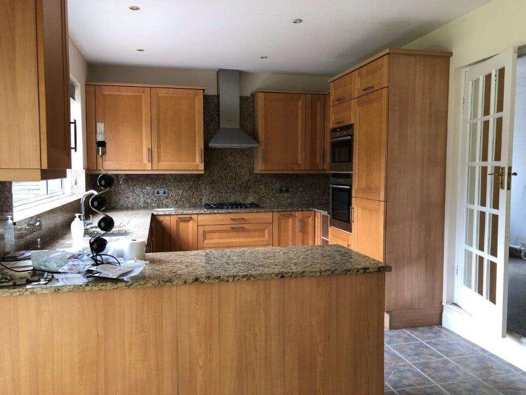 Nolte Kuchen Kitchen Wood Brown Doors Granite Worktops