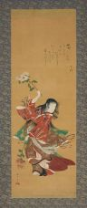 Child Dancing with Chrysanthemum Branch by Katsukawa Shunshō This file is in the public domain.