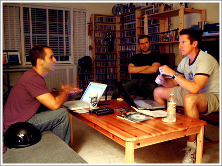 Todd, Russ and Jeff doing the bare minimum show prep.