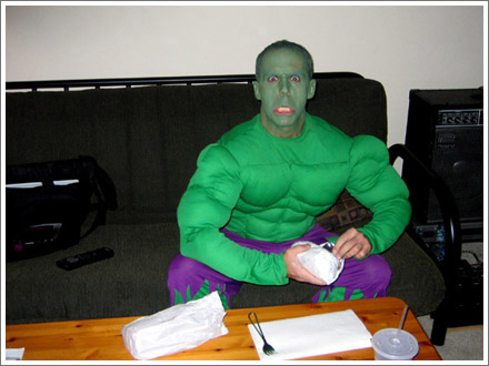 Todd hulks out during Halloween show.