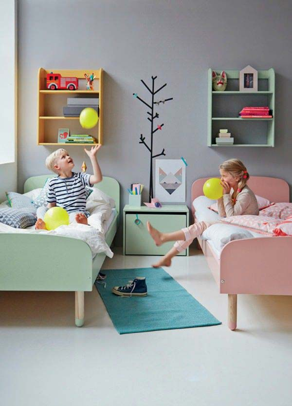 21 Smart and Creative Girl and Boy Shared Bedroom Design Ideas  usefuldiyprojects.com design ideas (15)