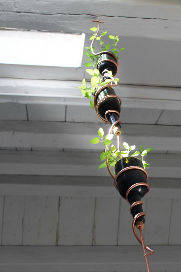 26 Highly Creative Wine Bottle DIY Projects to Pursue usefuldiyprojects.com (15)