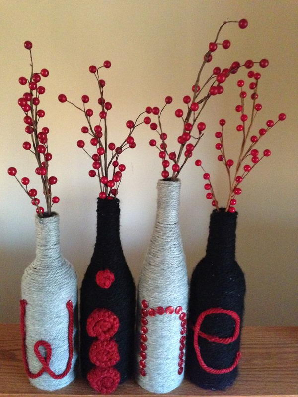 26 Highly Creative Wine Bottle DIY Projects to Pursue usefuldiyprojects.com (19)