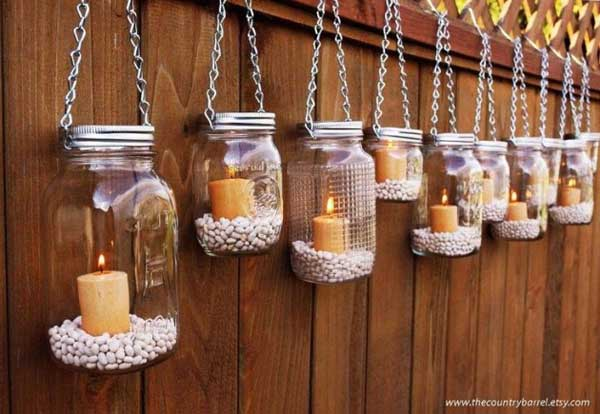 27 Magnificent and Splendid Hanging Mason Jars DIY Projects Beautifying The World usefuldiyprojects.com decor ideas (9)