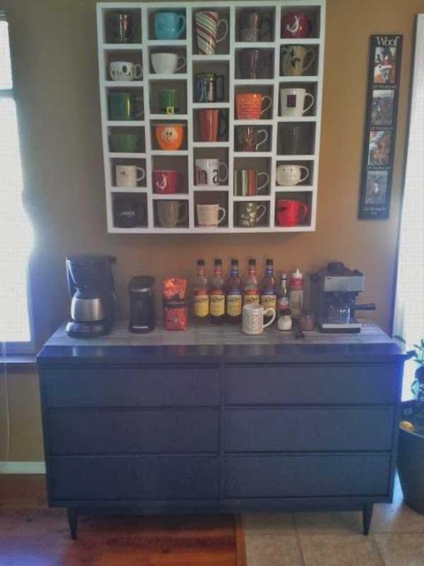30 Extraordinary Creative and Graphic DIY Mug Storage To Beautify Your Kitchen  usefuldiyprojects.com decor (2)