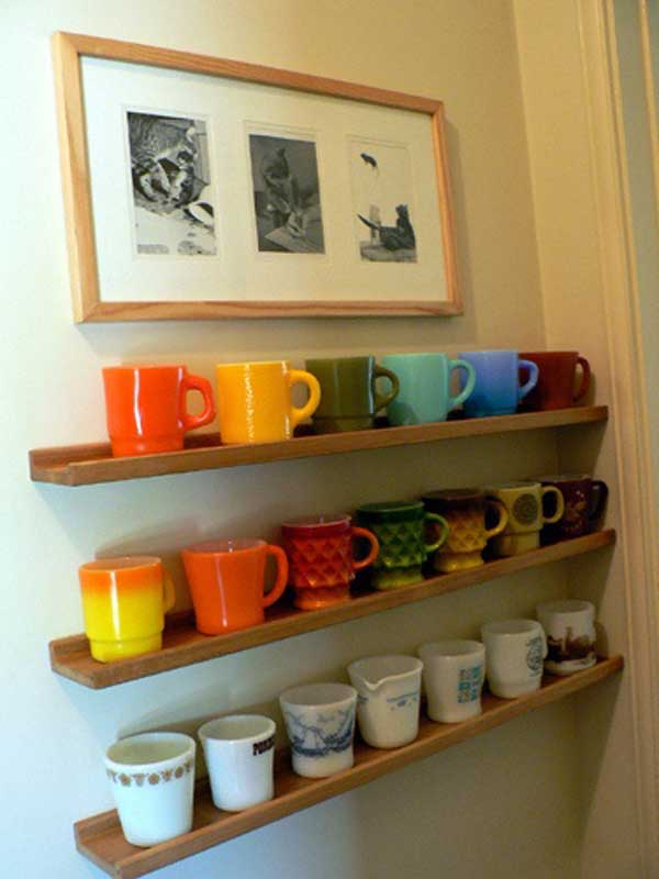 30 Extraordinary Creative And Graphic DIY Mug Storage To Beautify Your  Kitchen Usefuldiyprojects.com Decor