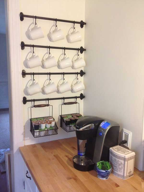 30 Extraordinary Creative and Graphic DIY Mug Storage To Beautify Your Kitchen  usefuldiyprojects.com decor (4)