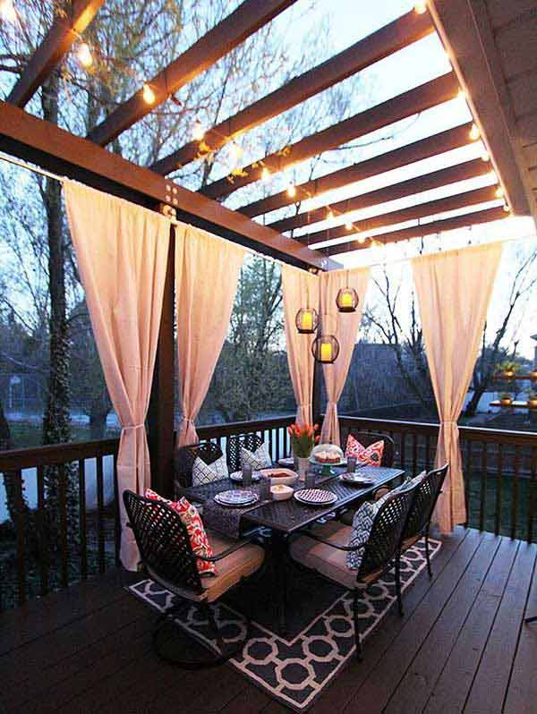 31 Ingeniously Cool Ideas to Upgrade Your Patio This Season usefuldiyprojects.com decor ideas (24)