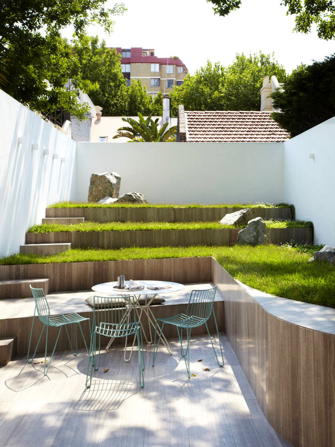 47+ Mesmerizing Backyard Landscaping Ideas- Terraces and ... on Terraced House Backyard Ideas id=74733