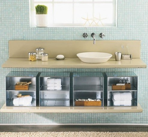 Diy bathroom storage ideas for Best way to store toothbrush in bathroom
