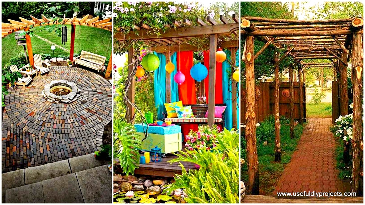 25 Beautifully Inspiring DIY Backyard Pergola Designs For ... on Diy Backyard Remodel  id=72457
