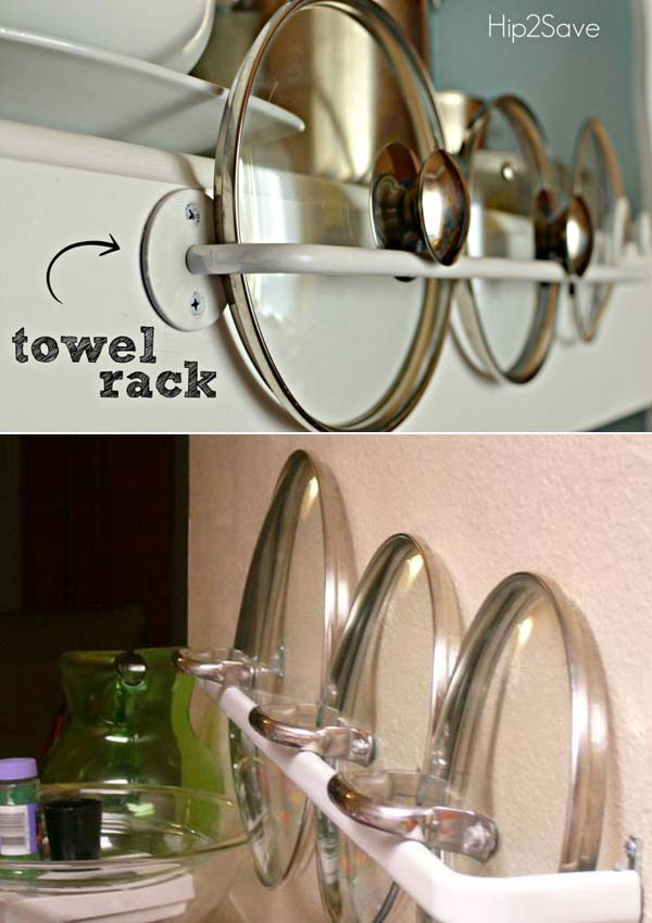 12 Insanely Smart Ways to Organize Your Pot Lids (10)