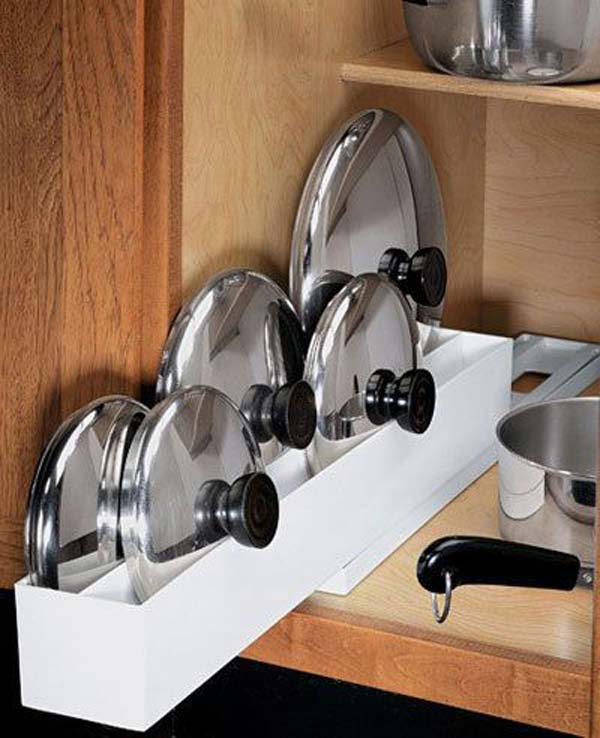 12 Insanely Smart Ways to Organize Your Pot Lids (4)