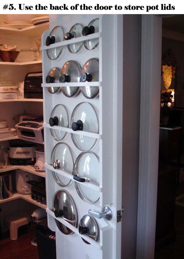 12 Insanely Smart Ways to Organize Your Pot Lids (5)