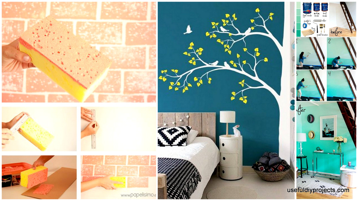 Merveilleux 15 Epic DIY Wall Painting Ideas To Refresh Your Decor