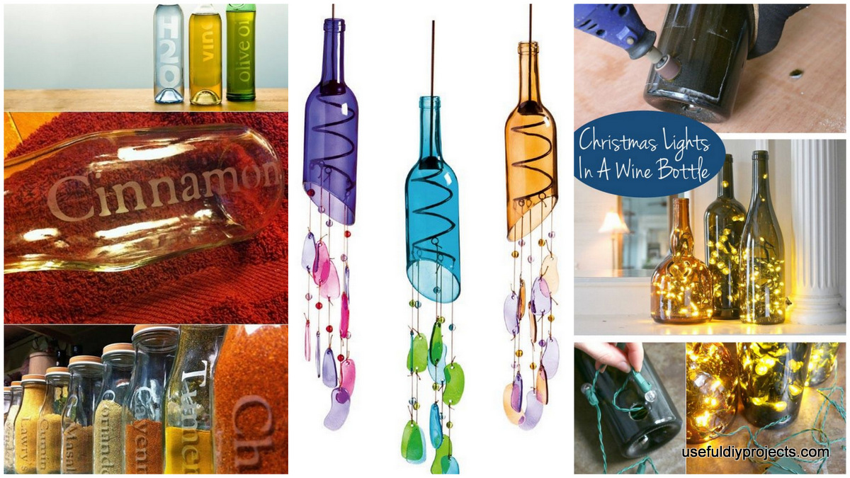 Home Design Gift Ideas: 16 Glass Bottle Crafts For Home Decor And Gift Ideas