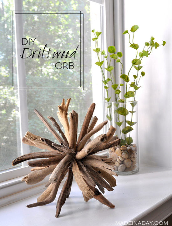 A DIY driftwood orb is a fun craft for your little one