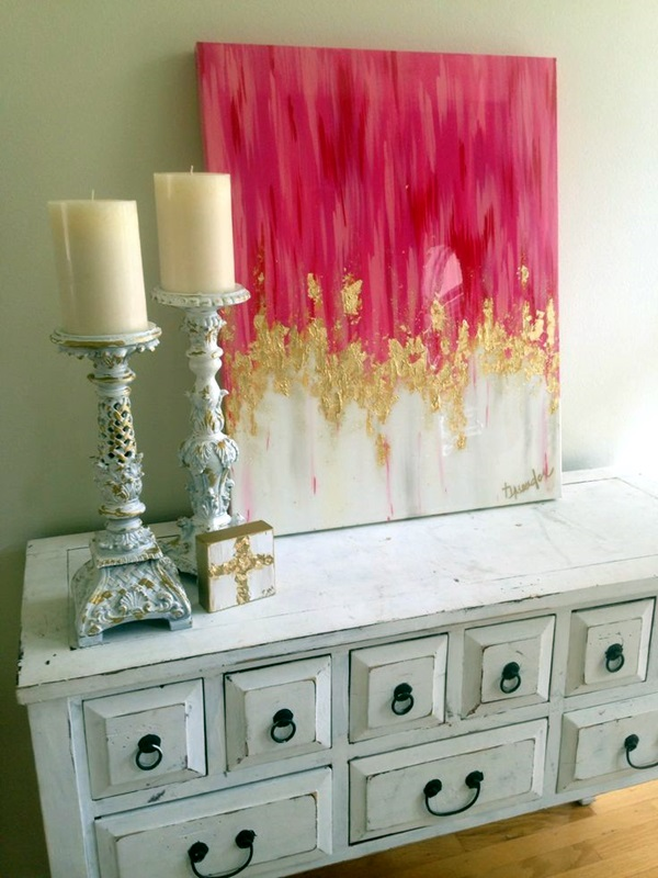 21 easy canvas paintings and techniques to try useful for Easy wall painting techniques