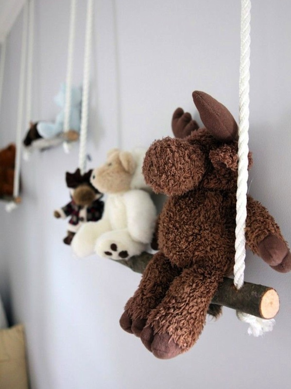 Swing Your Happy Friends On Branch Swings Placed Alongside A Wall. Top 40 Stuffed  Animal Storage ...