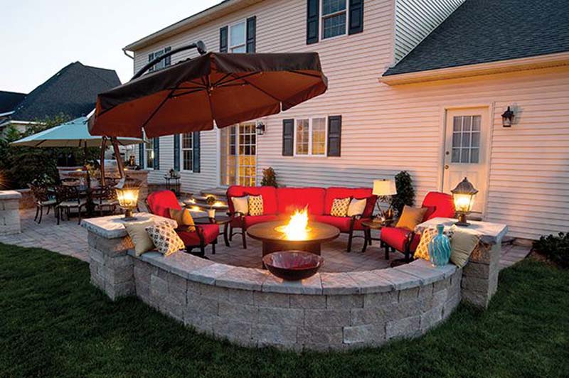 Insert The Fire Pit Into A Sitting Area On Your Terrace