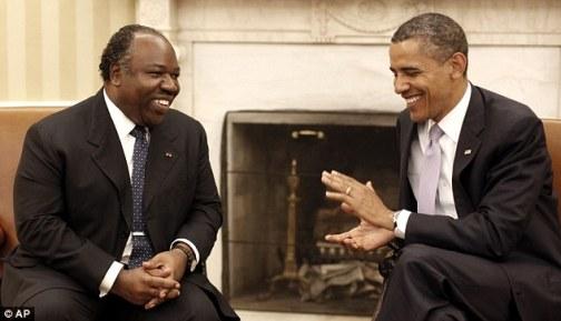Bongo with U.S. President Barack Obama