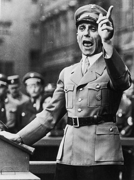 Dr. Paul Joseph Goebbels, during a speach in September 1934.