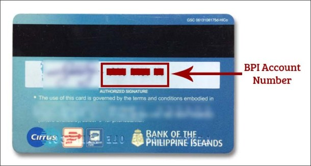 BPI Account Number