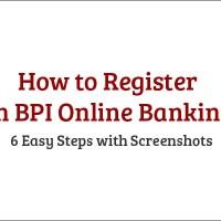 How to Register in BPI Online Banking 6 Steps
