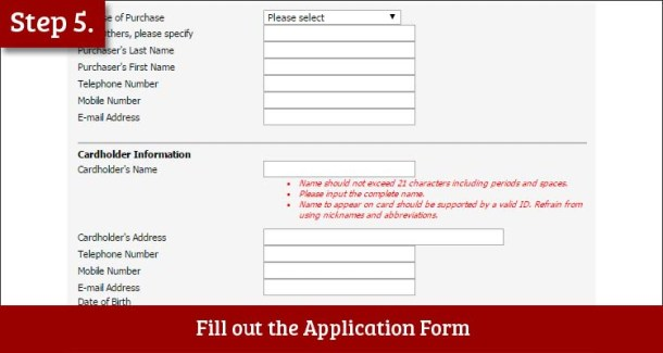 Step 5 Fill out the Application Form