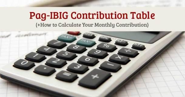 Pag-IBIG-Contribution Table