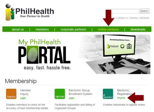 Step 1 PhilHealth Official Website